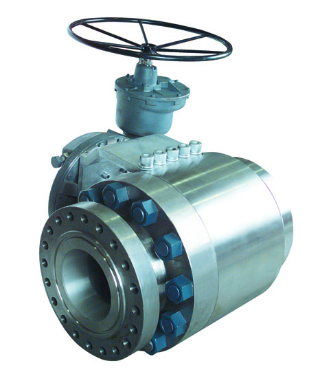V large diameter severe service metal seated ball valves