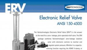 Electronic Relief Valve - ERV Brochure cover
