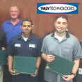 Valv employees who completed the national board certifications.
